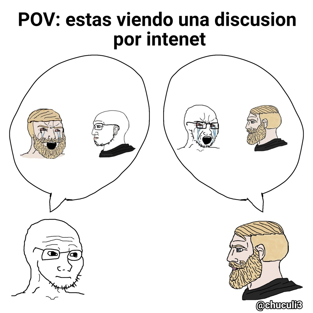 POV: Estas viendo una discusion por internet - meme