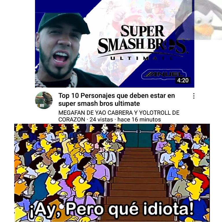 Nintendo no sabe de su puta existencia - meme