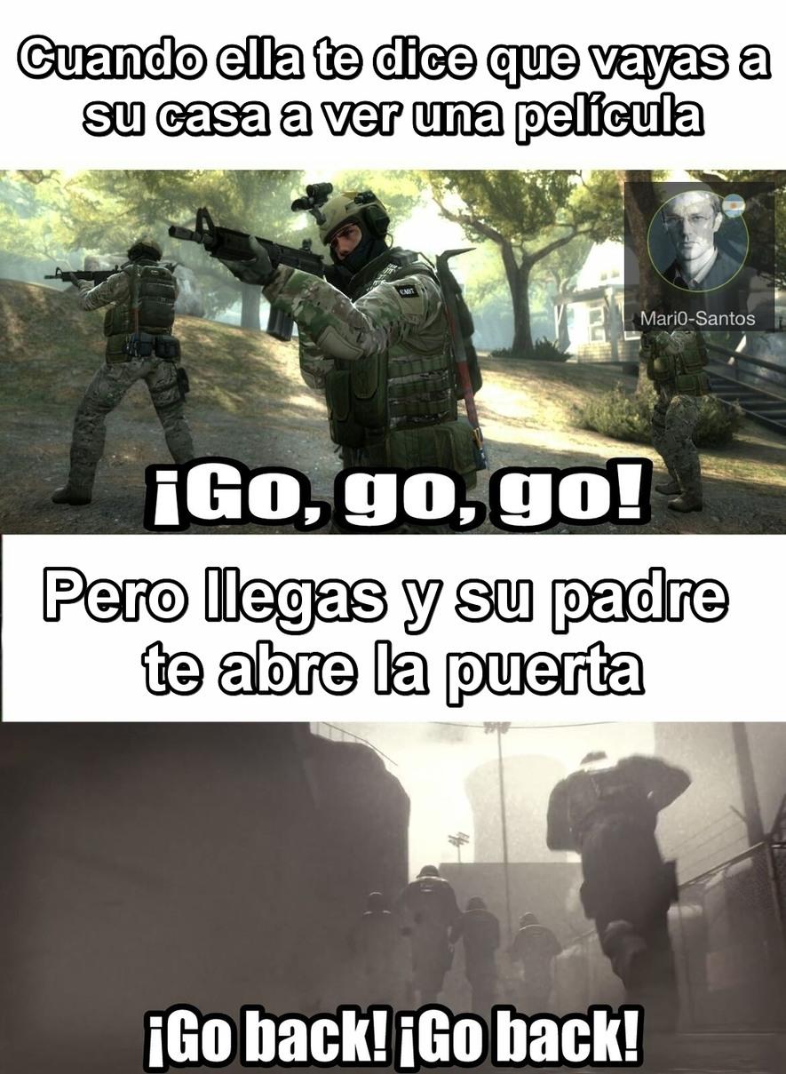 go back! - meme