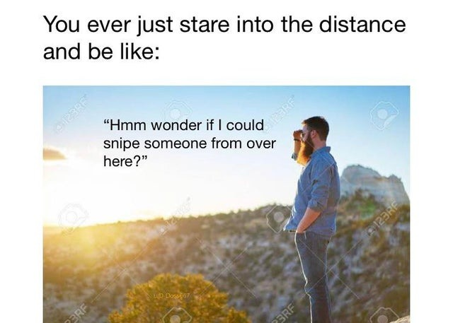 You ever just stare into the distance and be like - meme