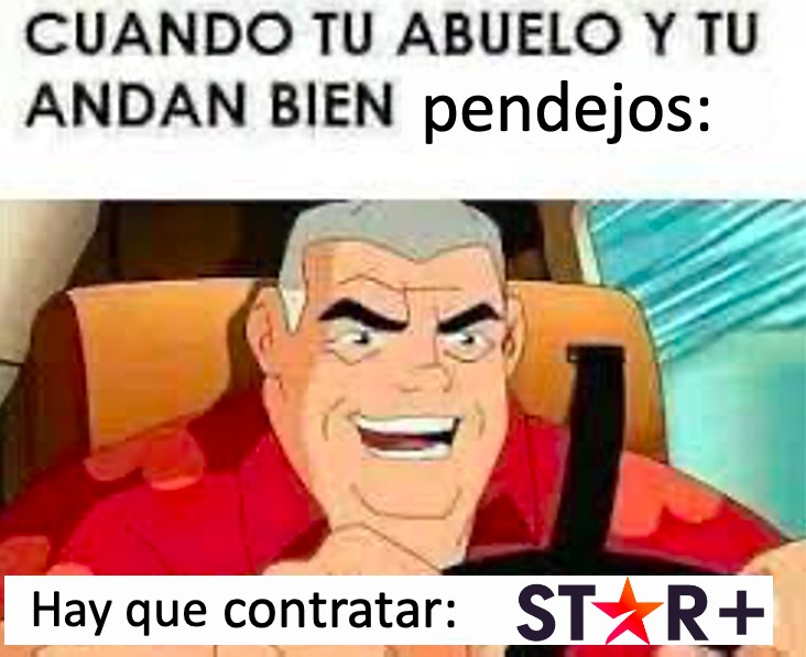 Star plus es cagada :capitánobvio: - meme