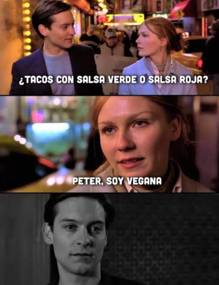 Peter, soy vegana - meme