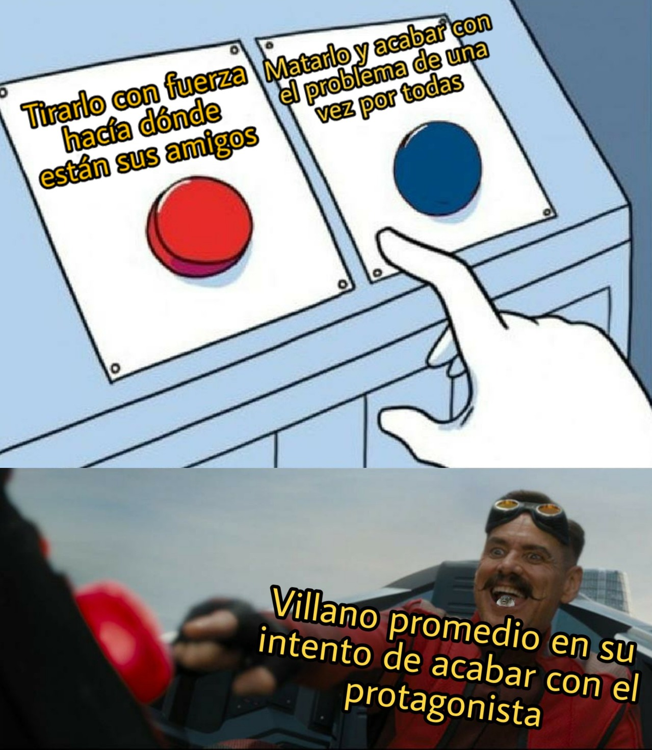 power up sacado del culo incoming - meme