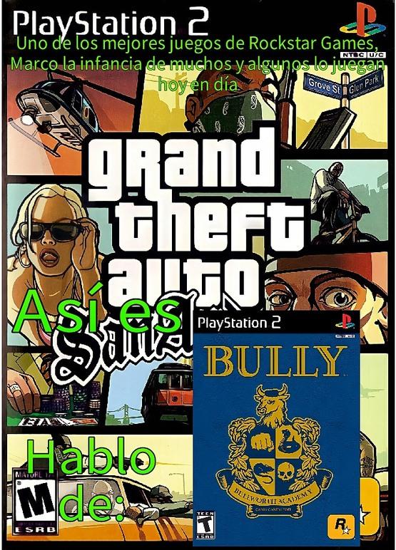 También hablo del Grand Theft Auto: San Andreas - meme