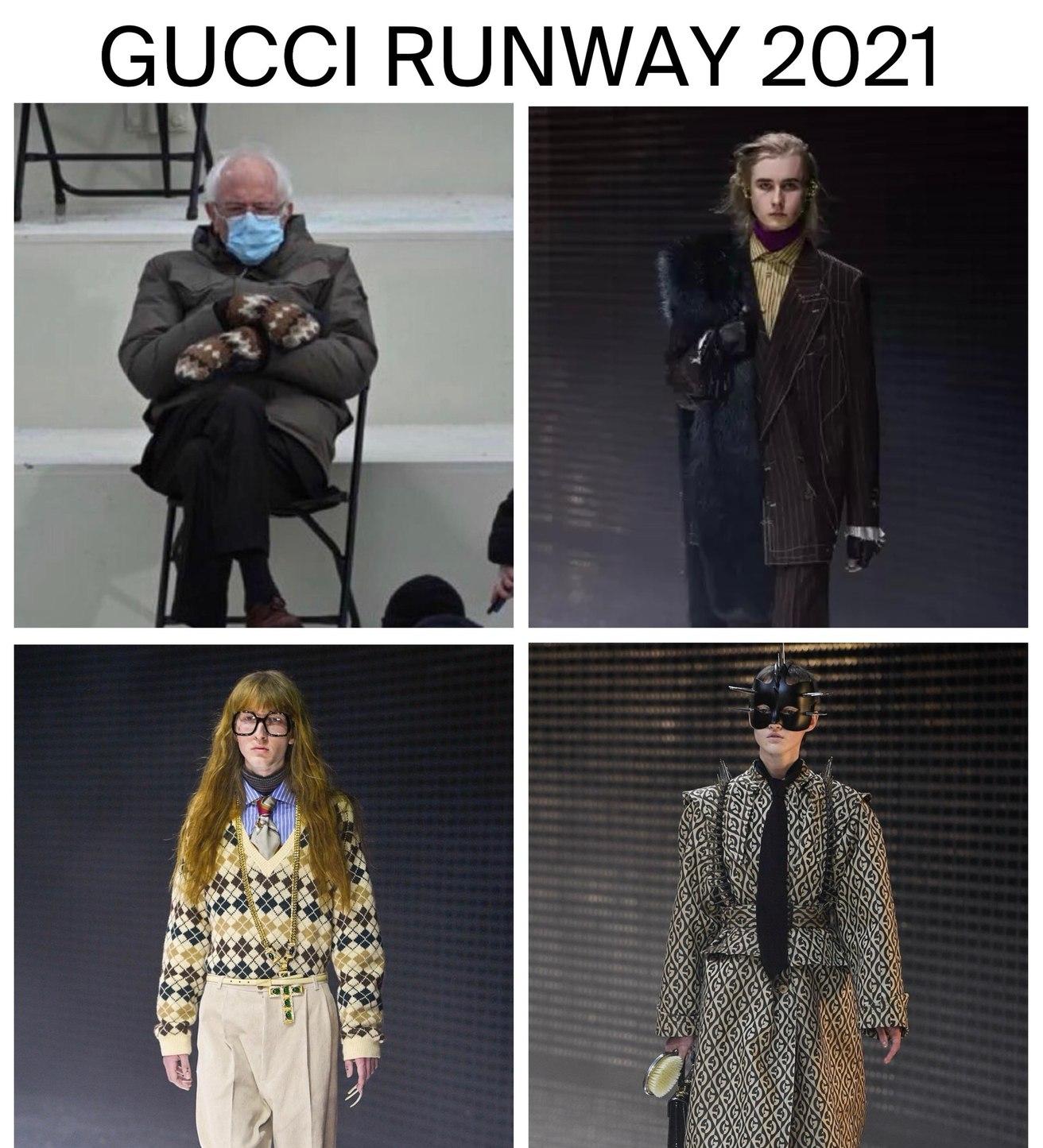 Bernie.. Gucci just called! - meme