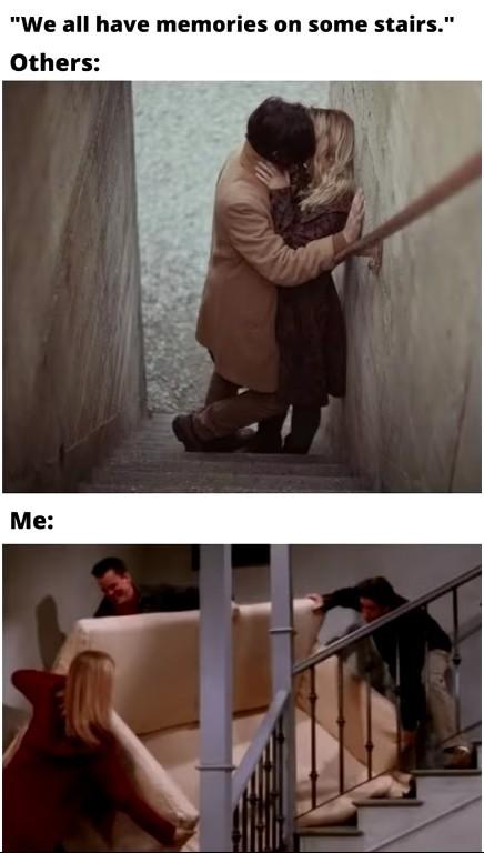 Stairs are fun - meme