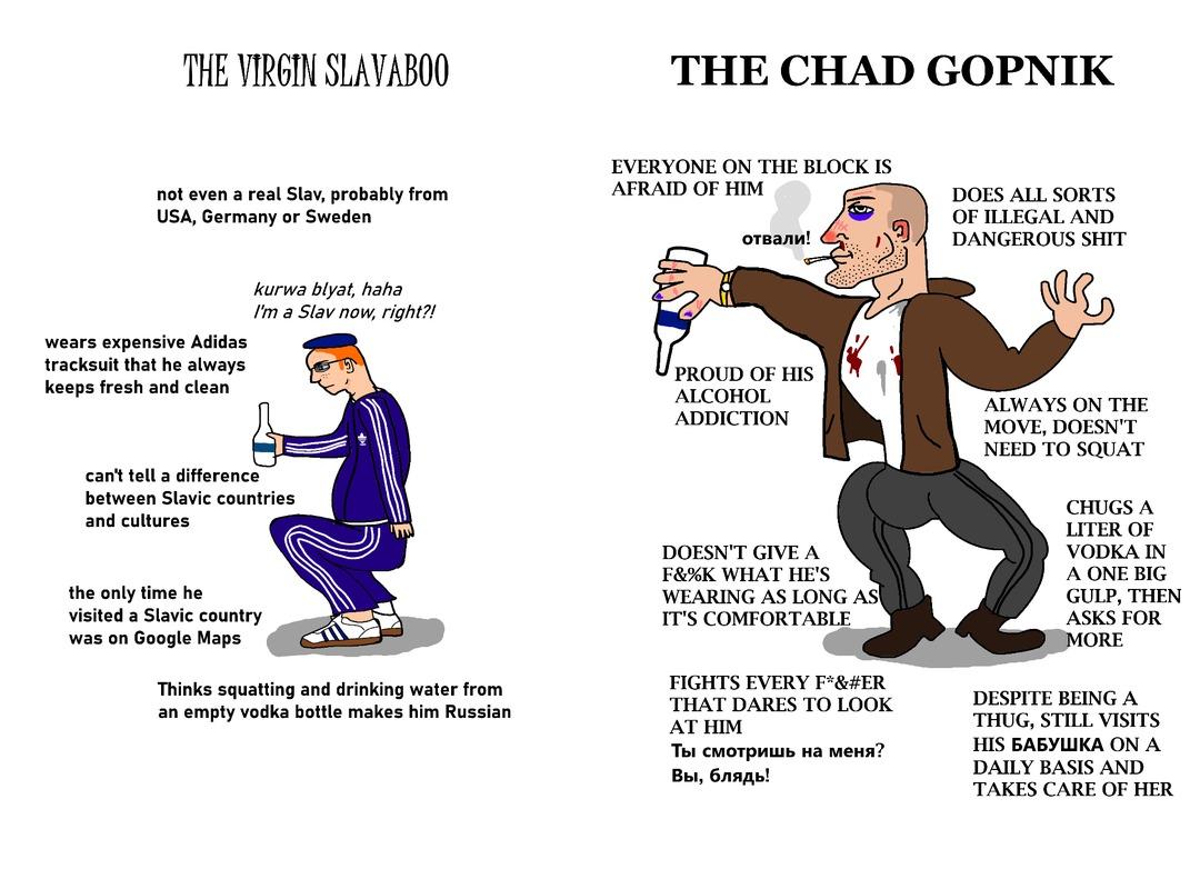 Virgin scumbag larper vs Chad scumbag - meme