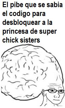 Para los que no sepan, hay un juego creado por PETA llamado Super Chick Sisters en el que 2 pollitos, que tomaban el rol de Mario y Luigi, debian destruir a KFC. En la seleccion de personaje podias jugar como la princesa, pero necesitas un codigo - meme