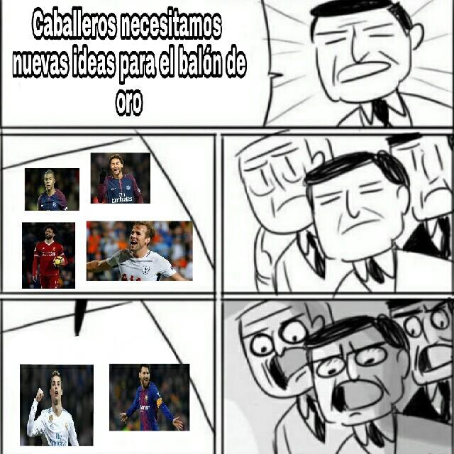 Siempre hay jugadores tan buenos y solo eligen a Ronaldo y a Messi - meme