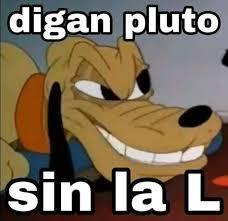 Pluto sin la L - meme