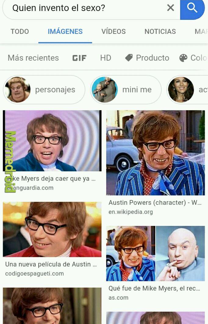 El legendario Austin Powers - meme