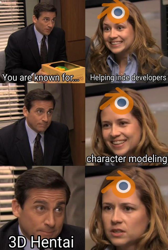 We all love you Blender - meme