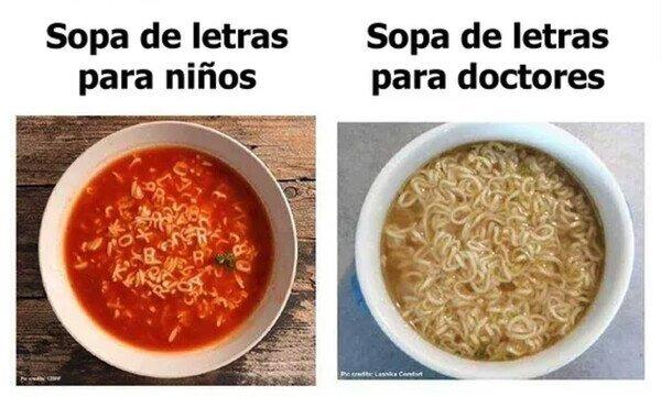 Sopa de letras - meme