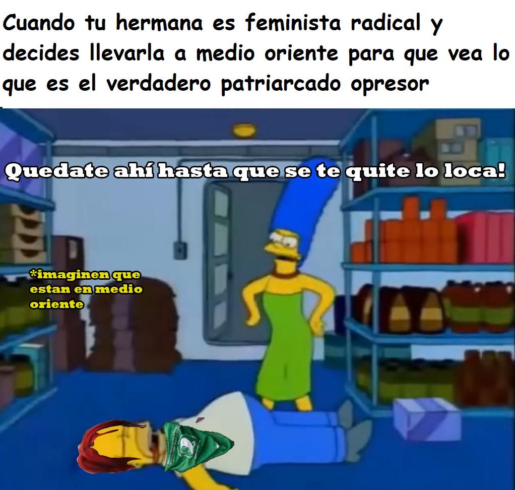 homero feminazi - meme