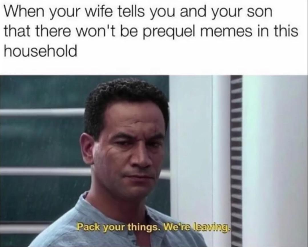 we're leaving - meme