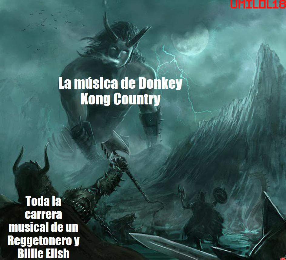 Videojuegos vs música de reggaetón - meme