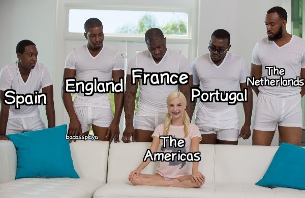 F in the chat for the Americas - meme