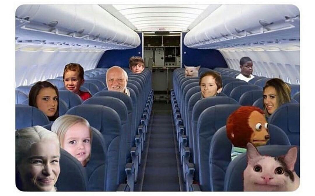 Le titre est dans l'avion - meme