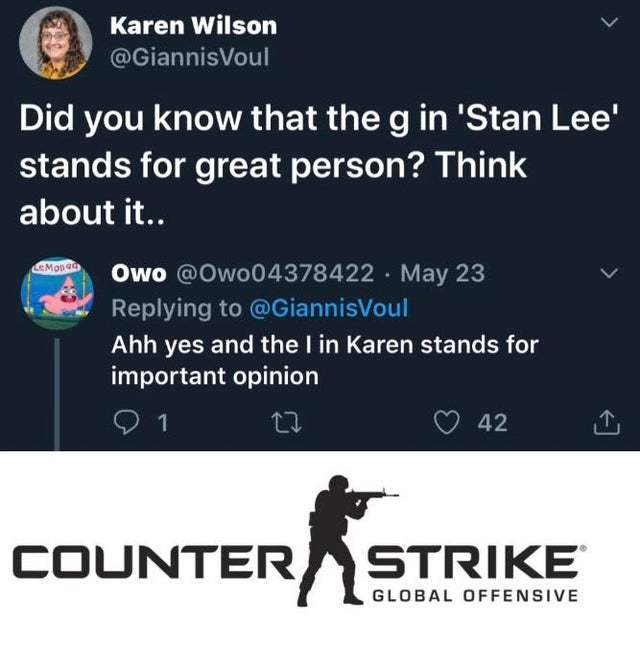 The g in Stan Lee stands for great person - meme