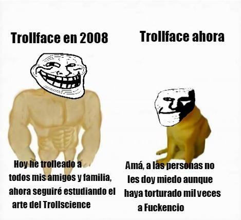 El Trollface es mejor que el Trollge - meme