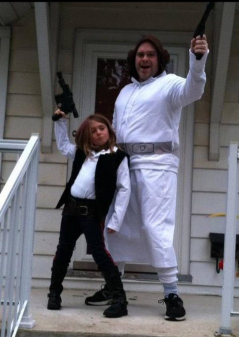 Girl wanted to the be Han solo, dad made his little girl happy