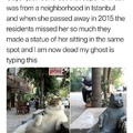 pussy statue killed me