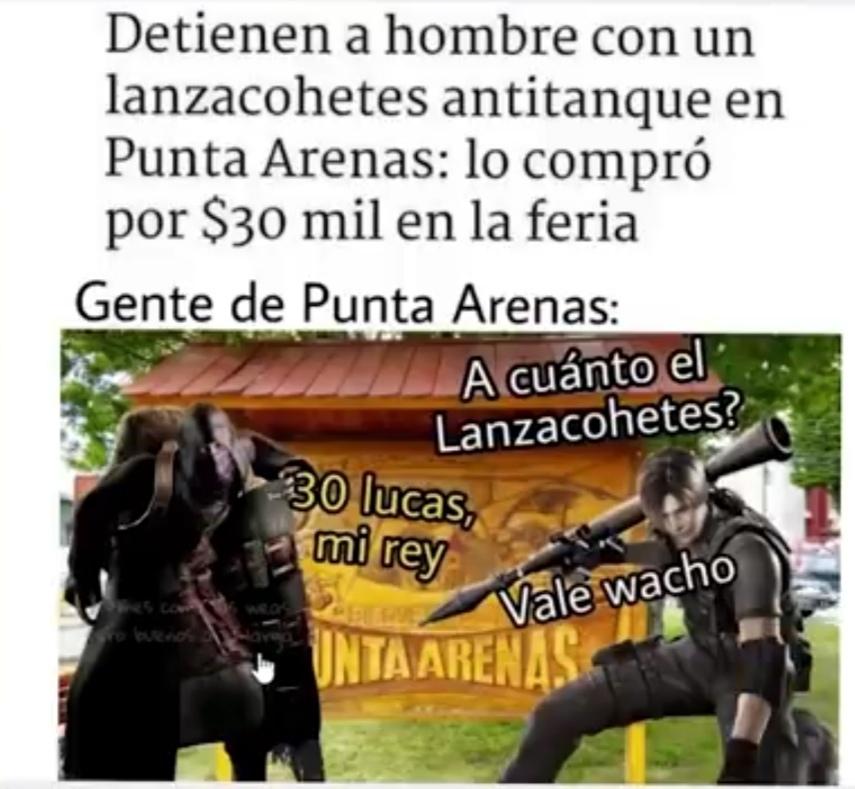 Solo pasa en Chile - meme