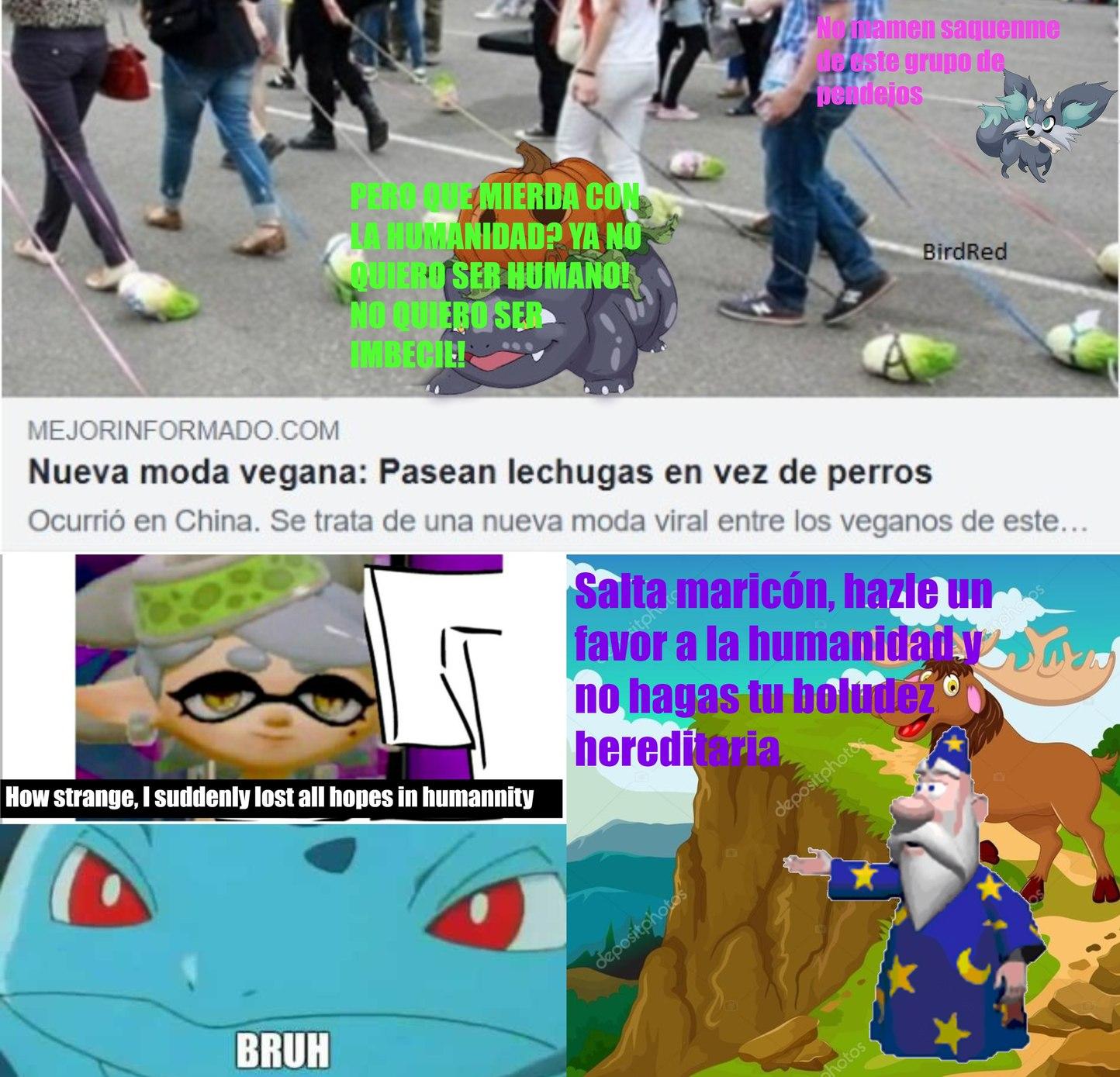 noticia original (contiene mucha estupidez, leer con cuidado)h t t p s://www.contextotucuman.com/nota/178132/nueva-moda-vegana-pasean-lechugas-en-vez-de-perros.html - meme
