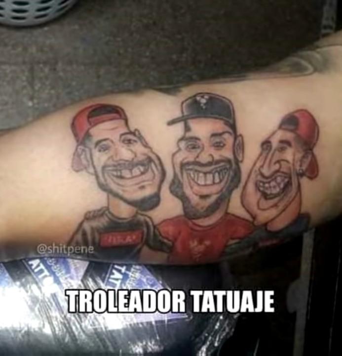 Troleadores tatuajes - meme