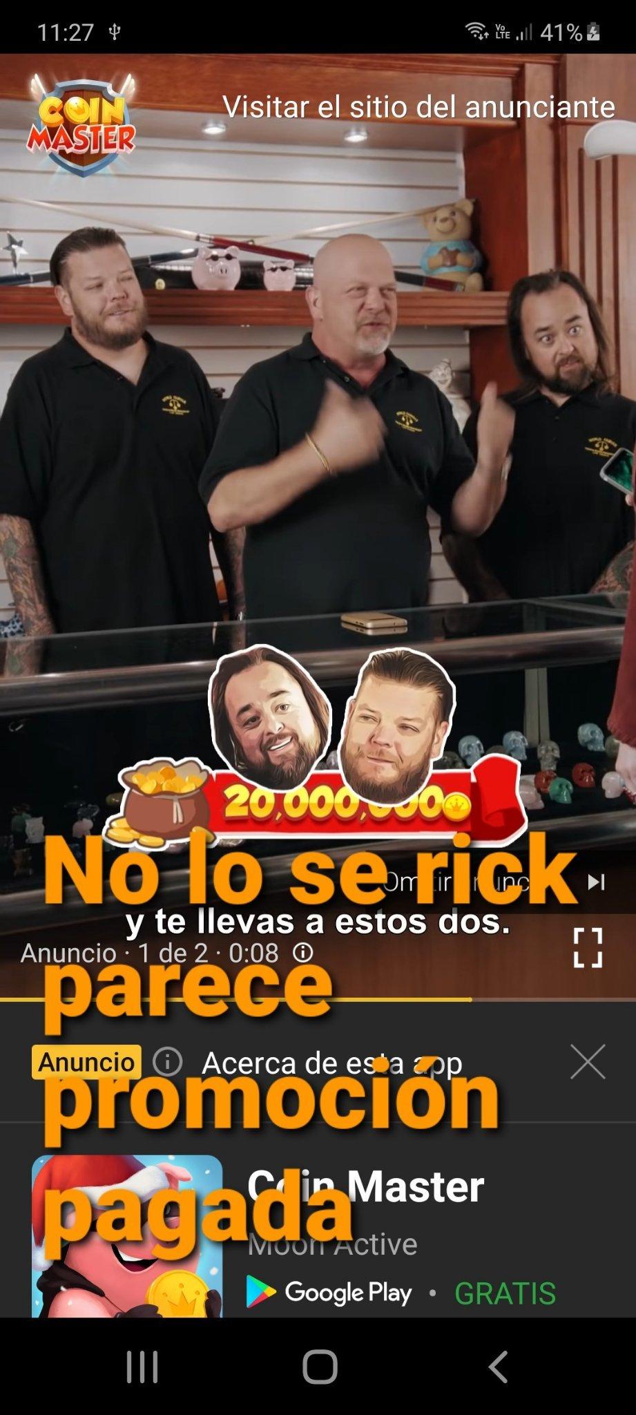 No lo c rick parece promicion pagada - meme