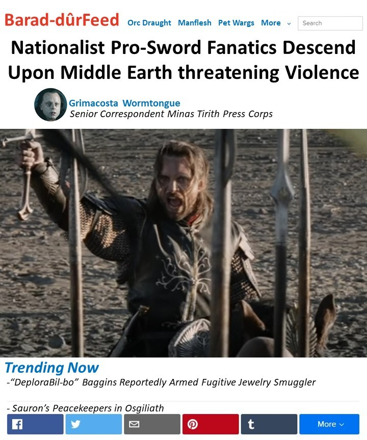 Pro-Sword Rally in Middle Earth - meme