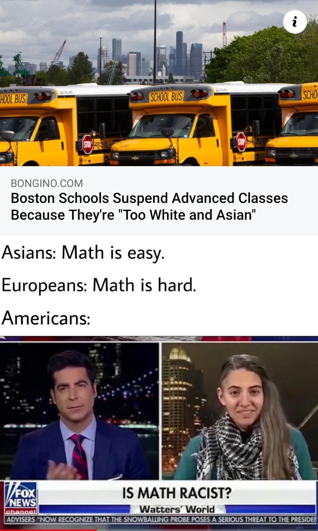 "Beeing smarter is ""racist"" - meme"