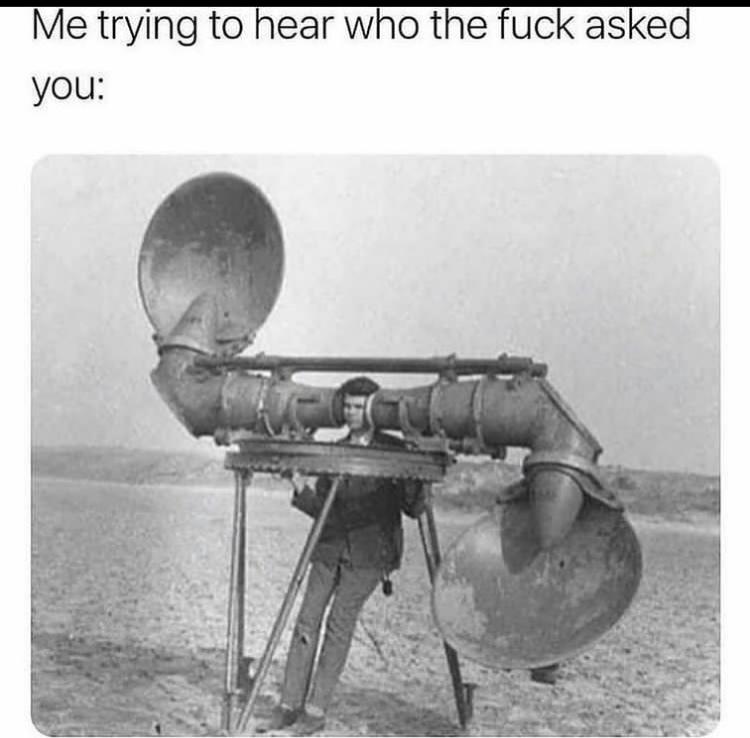 I can hear - meme