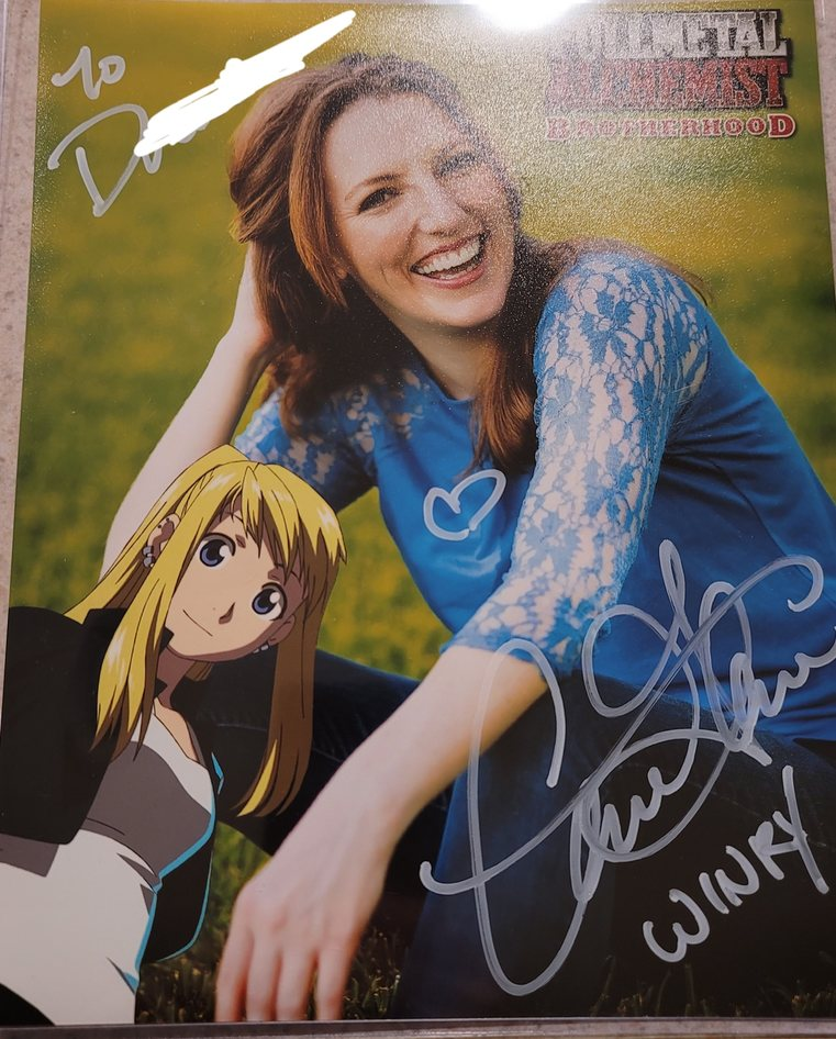 My winry autograph from Caitlin Glass - meme