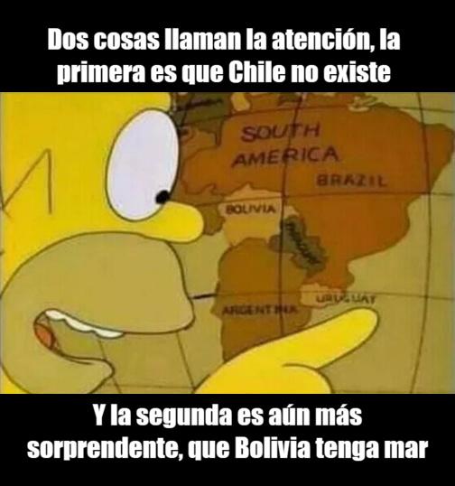 Los Simpson confundieron Chile con Paraguay - meme