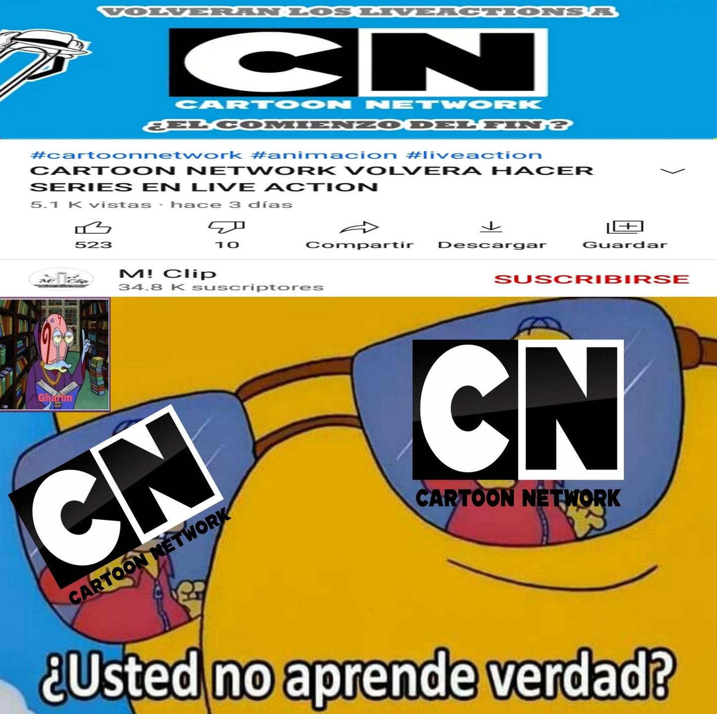 Cartoon Network no aprende nunca - meme
