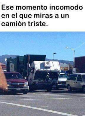 Pobre camión - meme