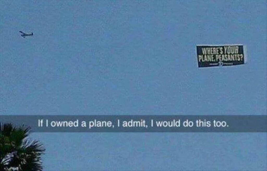 Where's your plane? - meme