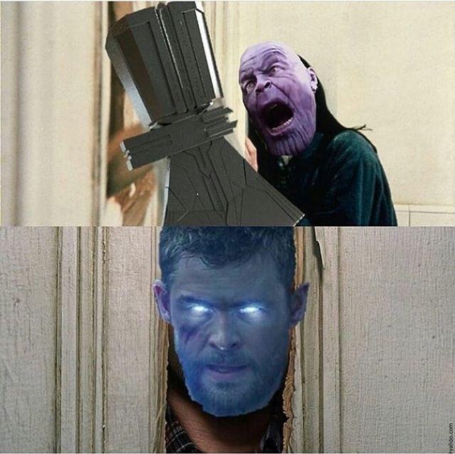 En ese momento, Thanos sintió el verdadero terror... - meme