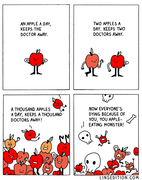 death by apple - meme