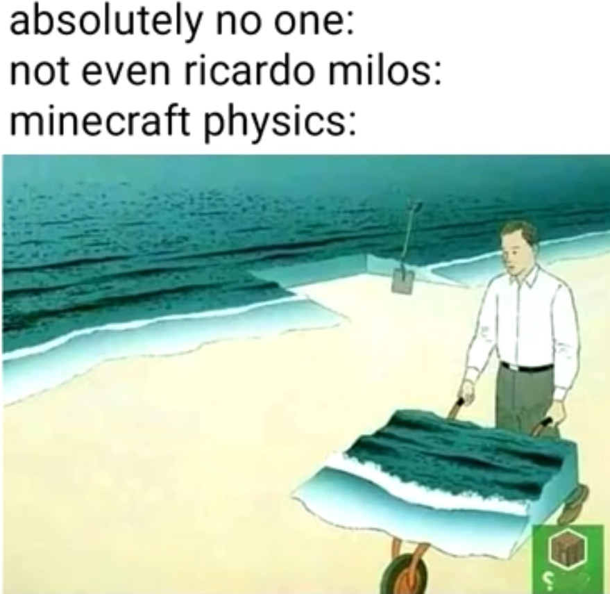 Minecraft physics - meme