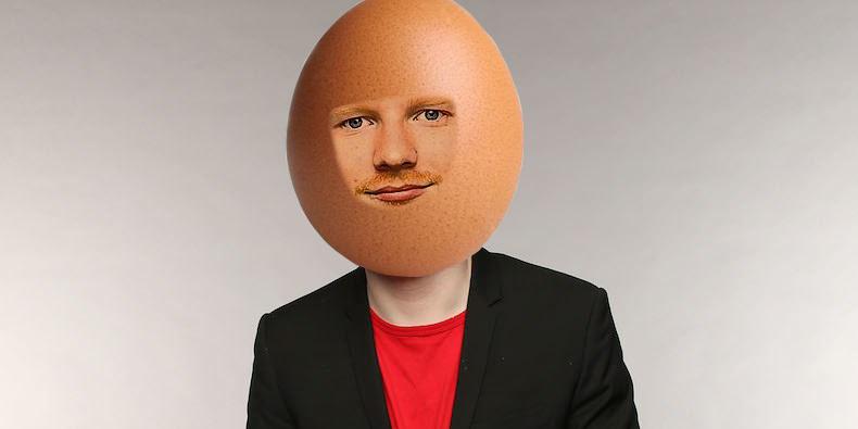 egg sheeran - meme