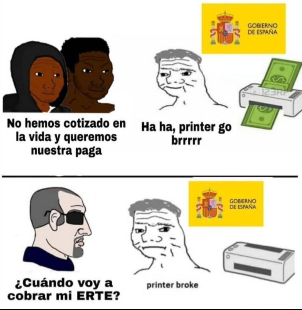 Así va España. - meme