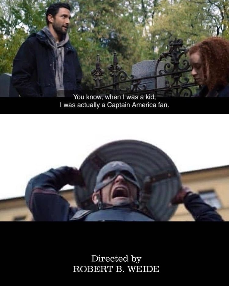 captain America should curb his enthusiasm - meme