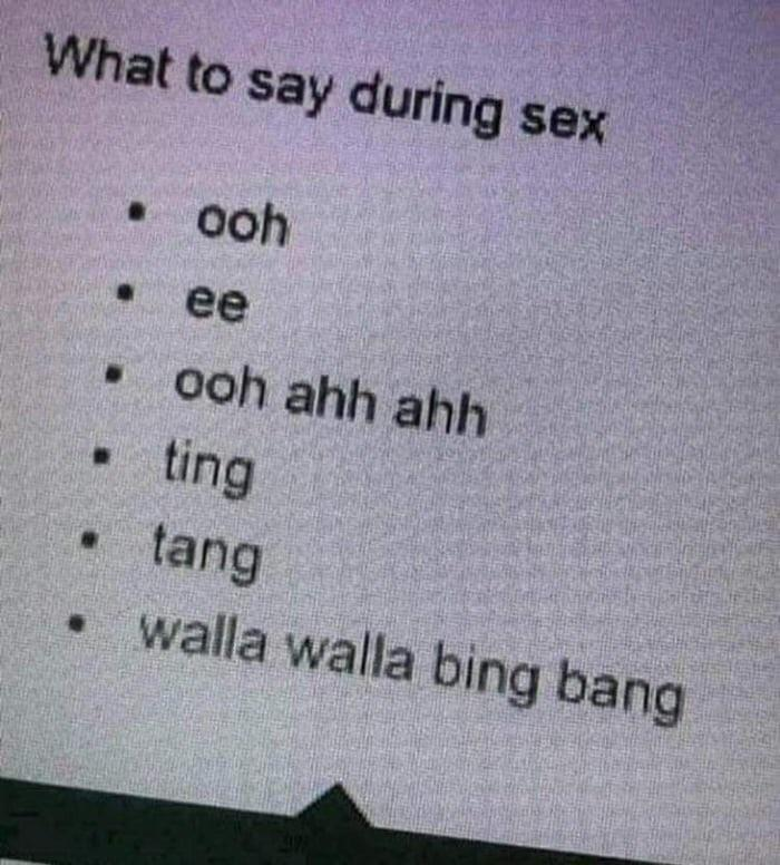 Magic words to say during sex - meme