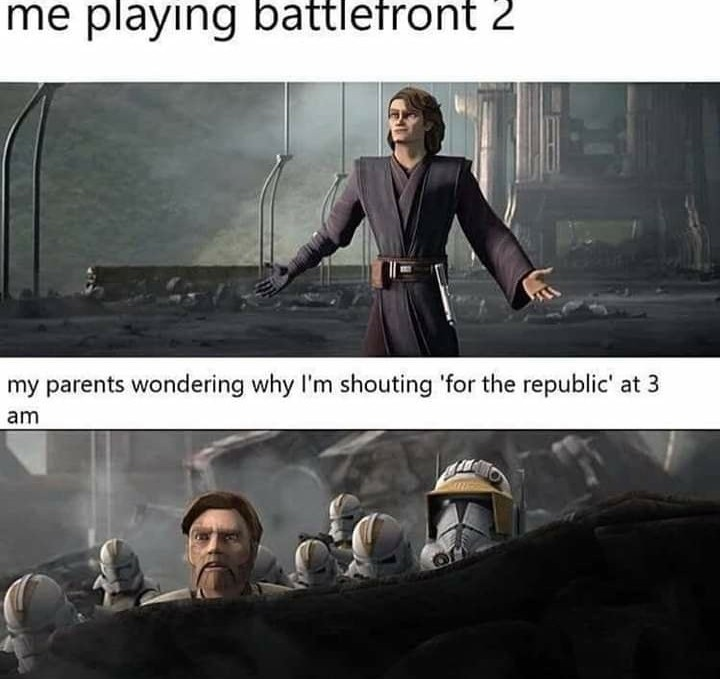 Battlefront 2 is pretty honest - meme