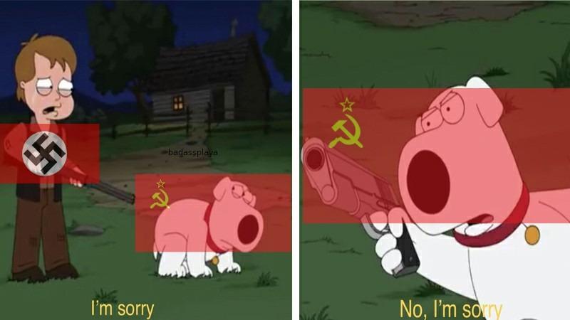 NEVER fight Russia in the winter - meme