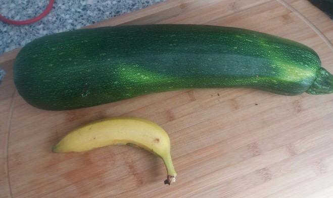 zucchini (3kg) from our garden ( ͡° ͜ʖ ͡°) - meme