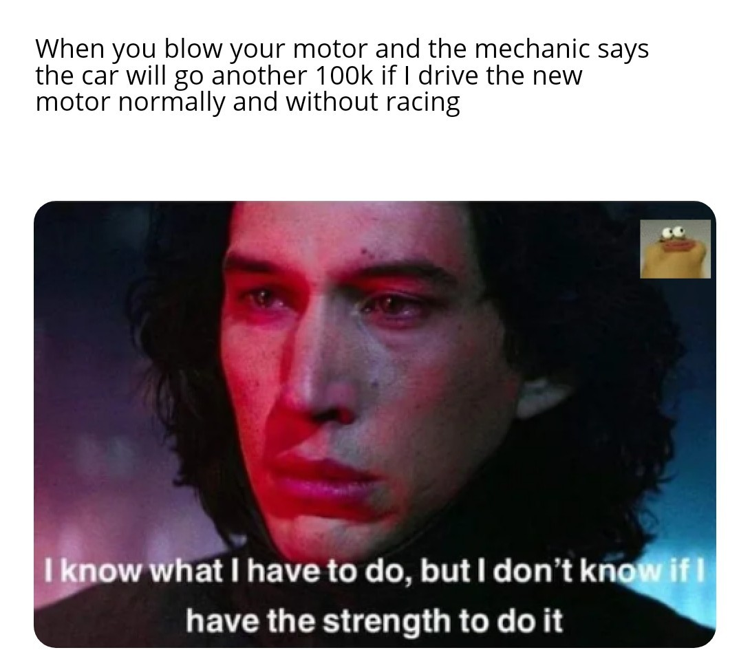 Cylinder closest to the turbo goes brrrr - meme