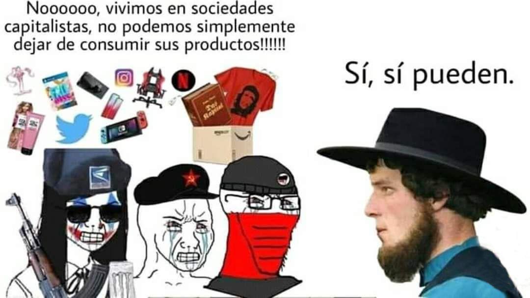 Los de antifa se joden la vida ellos solos - meme